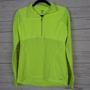 neon yellow Champion Duo Dry workout top